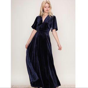 Take Me To The Moon Velvet Maxi Dress